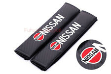 2x Car Auto Seat Safety Belt Pad Cover Shoulder Strap Cushion Logo For NISSAN