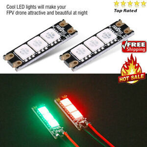 2pcs Drone Accessories LED Strip Light Board for FPV RC Quadcopter