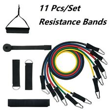 11Pcs/Kit Resistance Bands Exercise Fitness Workout Muscle Strength Training