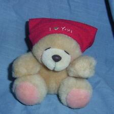 "'HALLMARK"" ""FOREVER FRIENDS TEDDY BEAR, 'I LOVE YOU"" RED HAT, #B74-22)"