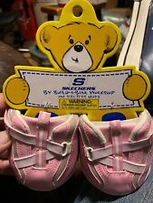 New Build a Bear Girl Skechers Shoes Velcro Sneakers Pink & White