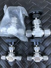 Set of 4 newWhitey (Swagelok) valves 2 are SS-1RS4 and 2 are SS-1VS8