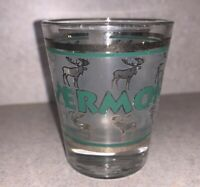 VERMONT STATE SCENERY BLUE NEW SHOT GLASS SHOTGLASS
