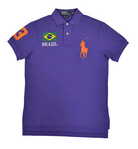 Polo Ralph Lauren Custom Slim Fit Big Pony World Cup Country Shirt New