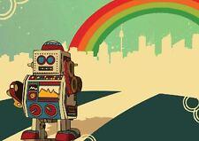 ROBOT RAINBOW NEW ART PRINT POSTER YF1388