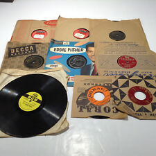 Records Lot Of 8. 78 RPM and 45 RPM Vintage Records