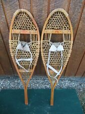 "SNOWSHOES 43"" Long x 12"" Wide  Signed FABER with  Leather Bindings"