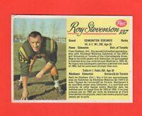 1963 Post CFL card # 137 Roy Stevenson Exmt