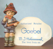 Hummel Goebel Authorized Retailer Plaque Tally School Boy 460 Tm6 Museum Archive