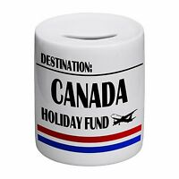 Destination Canada Holiday Fund Novelty Ceramic Money Box