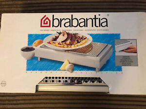 Brabantia Cream Metal Food Warmer with 2 Candle Burners & Snuffers New & Boxed