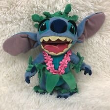 "Disney Lilo and Stitch 10"" Hawaiian Dressed Disneyland Plush Stuffed Animal"
