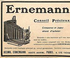 APPAREILS PHOTO HEINRICH ERNEMANN PARIS CITE TREVISE PUBLICITE 1908