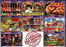 Lot of 8 Jigsaw Puzzles from PUZZLEBUG 300 Piece NEW