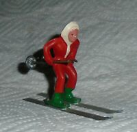 """VINTAGE LEAD BARCLAY """"GIRL ON SKIS IN RED"""" B191 Near Mint Free Shipping  Lot B"""