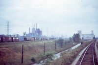AMTRAK Railroad View from Train WHITING IN Original 1971 Photo Slide