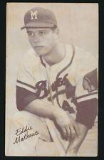 1947-66 Exhibit Supply Co -EDDIE MATHEWS -Name Correct (Braves) *HOF*