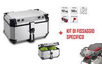 OBKN58A Givi Bauletto 58LT Aluminum + Support BMW R 1200 GS Adventure 2018