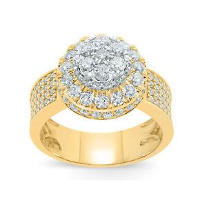 10K YELLOW GOLD 3 CARAT MENS REAL DIAMOND ENGAGEMENT WEDDING PINKY RING BAND