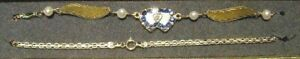 New 14K Gold/ DIA. Heart/Birthstone Winged Anklet-Free Engraving/Free Shipping!