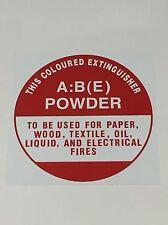 Fire Extinguisher ID Sign ABE Powder