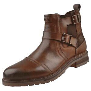 DOCKERS by Gerli 45LN004 Herren Schnallen Boots Stiefelette Stiefel Cognac