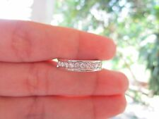 1.05 Carat Diamond White Gold Half Eternity Ring 14k sepvergara