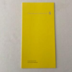 Ferrari Owners Website Sales Brochure Catalog Advertising - GERMAN TEXT