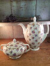 Art Deco Tea Pot And Lidded Sugar Bowl set '1920-39' Victoria Czechoslovakia