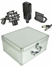 More details for citronic cm25 studio condenser microphone, phantom power (173.629uk), black