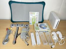 Nintendo Wii Console Bundle With Wii Fit Plus Balance Board 5 Games Controllers