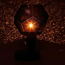 Romatic Night Light Star Laser Projector Lamp Sky Master Gift + Power Adapt