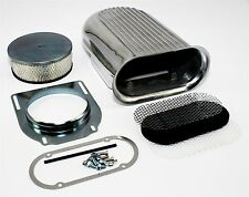 Retro Finned Styled Hood Scoop Air Cleaner Assembly w/ Filter Kit Rat & Hot Rod