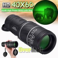 40x60 High Power BAK4 HD Monocular telescope Waterproof night vision