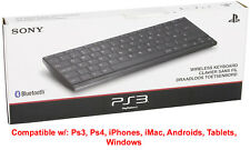 Sony Slim Teclado Inalámbrico Bluetooth Universal para PS3 PS4 iPhone iMac Android