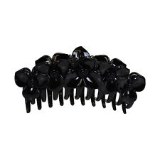 Black Jaw Clip Jumbo Flower Design Claw Hair Clip Cute Girls Hair Accessory