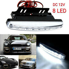 2 Pcs 8LED 12V Daytime Running Light DRL Car Fog Day Driving Lamp Daywhite