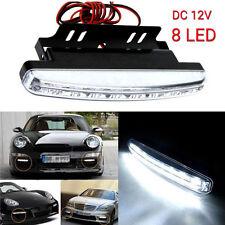White 8LED Daytime Driving Running Light DRL Car Fog Lamp Waterproof DC 12V