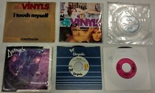 """DIVINYLS lot of 6 7"""" vinyl records w/ Flexi, I Touch Myself X-Rated, Promo PS Oz"""