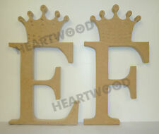 Crown Georgia Letters in MDF (180mm X 18mm Thick)wooden Craft Shape/blank