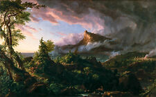 Thomas Cole - The Course of Empire The Savage State, 1836, Poster, Canvas Print