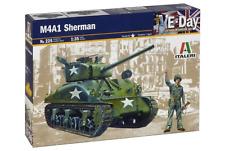Italeri 225 M4A1 Sherman 1/35 Scale Plastic Model Kit with Figure