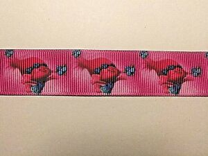 TROLLS - POPPY - Grosgrain Ribbon - Hair Bows etc 22 mm wide. 5 Meters for £2.69