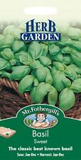 Mr Fothergills - Pictorial Packet - Herb - Basil Sweet - 650 Seeds