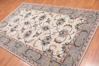 5' x 8' Handmade 100% Wool Traditional Oriental Area Rug 5x8 Traditional Beige
