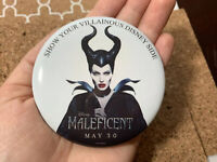 MALEFICENT MOVIE ANGELINA JOLIE DISNEY BUTTON PIN Limited Commemorative Keepsake
