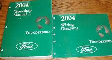 Original 2004 Ford Thunderbird Shop Service Manual + EVTM Wiring Diagram Set 04