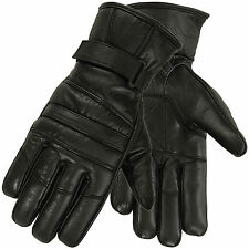 Mens Warm Winter Gloves Dressing Glove Linning Genuine Leather Black