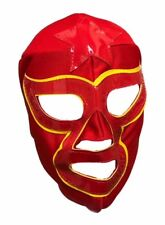 LUCHA STAR Adult Lucha Libre Wrestling Mask - Red/Yellow