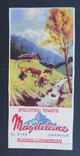 BUVARD BISCOTTES MAGDELEINE Granville Montagne Mountain rusk blotter Löscher